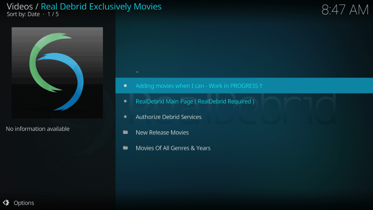 For these reasons and more we have included Real-Debrid Exclusively Movies in our Best Kodi Add-ons List.