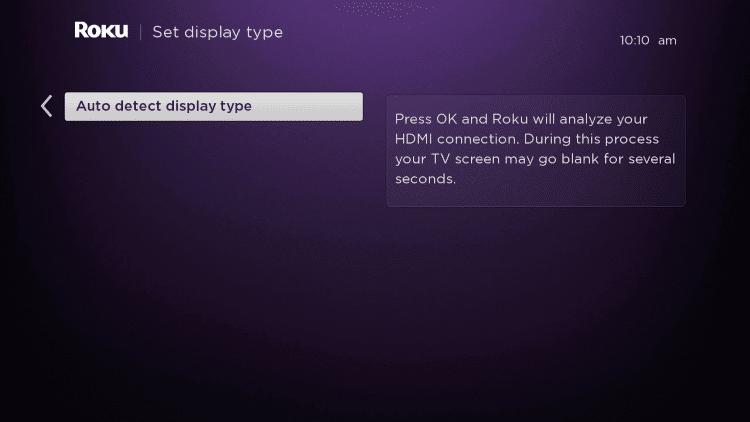 choose auto display type