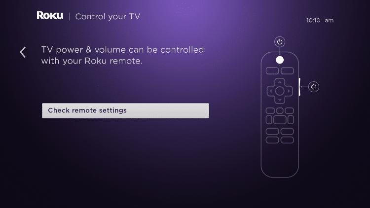 choose check remote settings