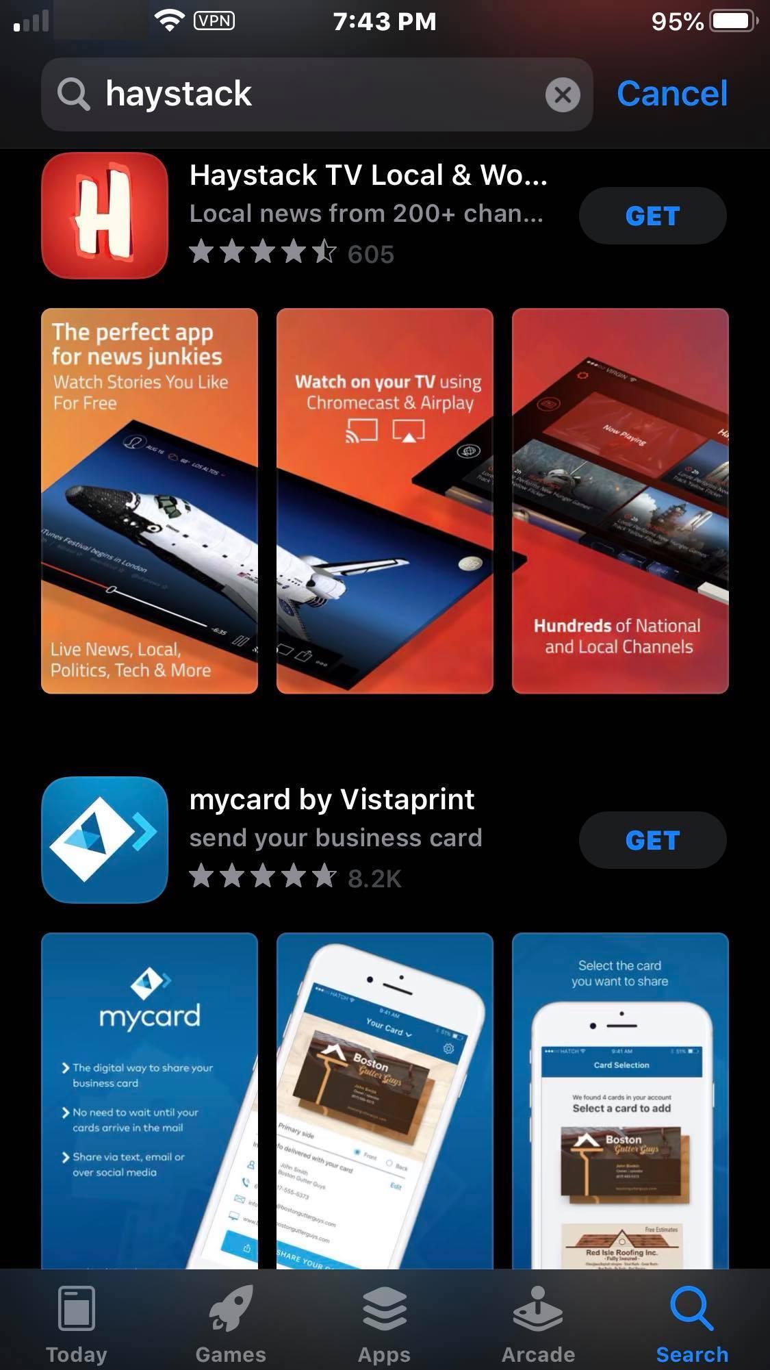 Step 2 - Haystack TV iOS Device Installation Guide