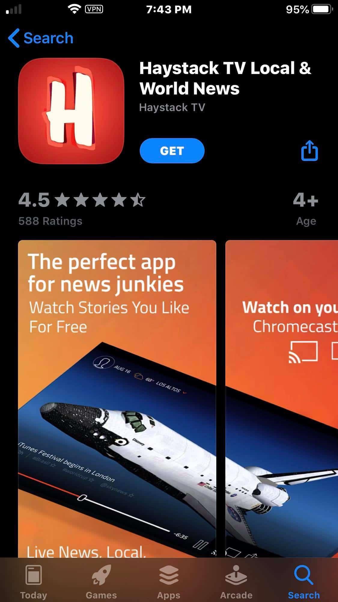 Step 3 - Haystack TV iOS Device Installation Guide