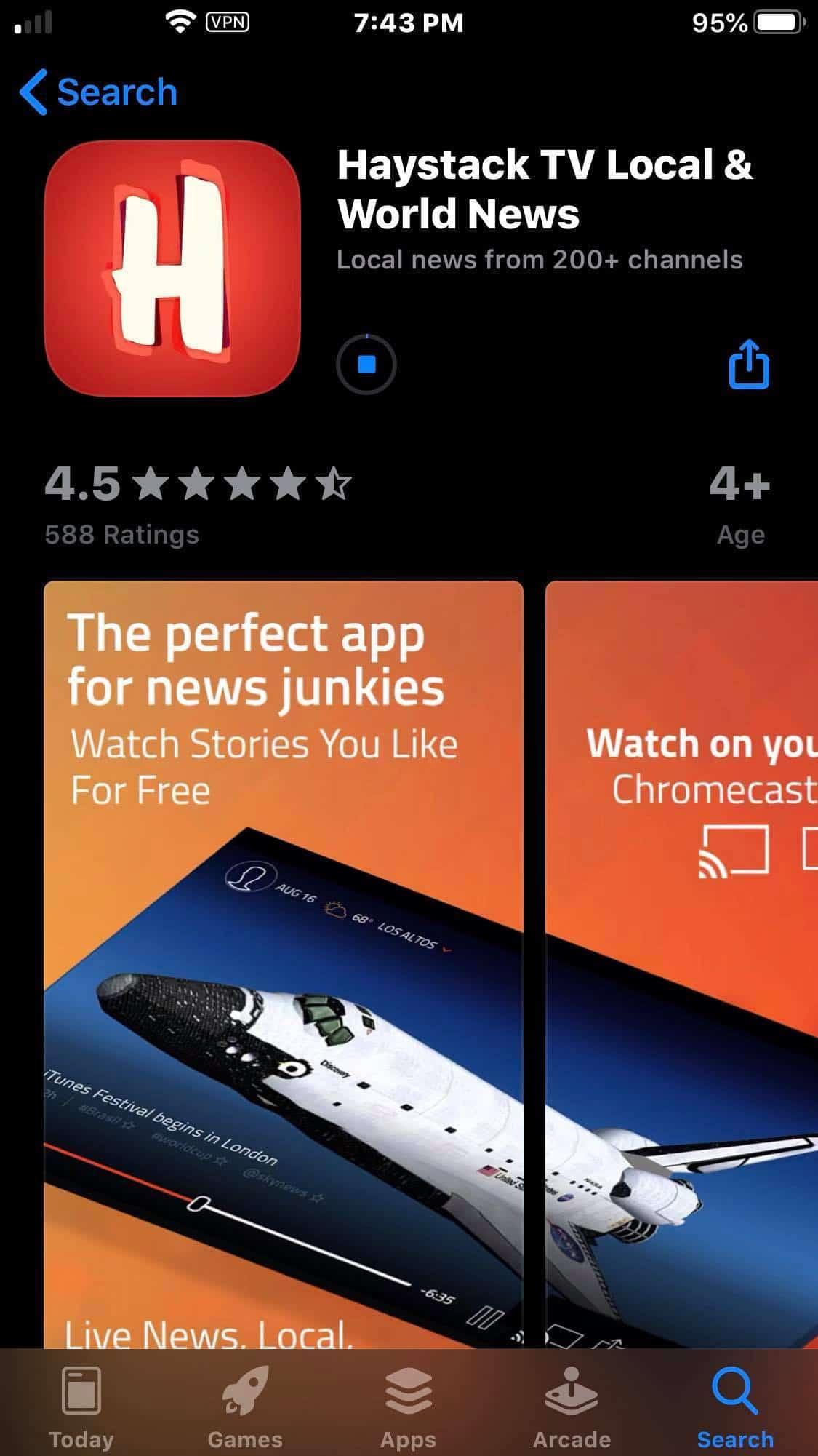 Step 4 - Haystack TV iOS Device Installation Guide
