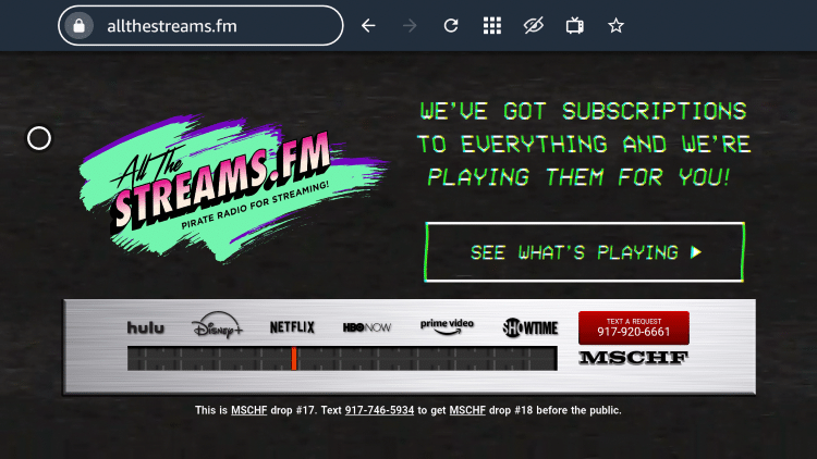 That's it! You are now able to use AllTheStreams.fm on your streaming device.