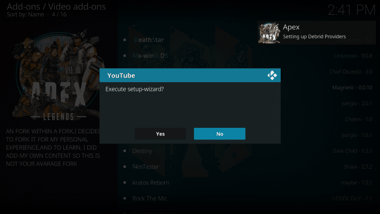 If this message appears just select No.