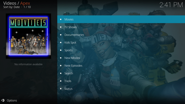 For these reasons and more, Apex has been chosen as a Best Kodi Add-On by TROYPOINT.
