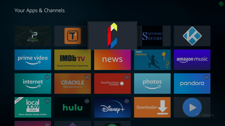 Drag CKayTV to the top of your apps list and click to drop.