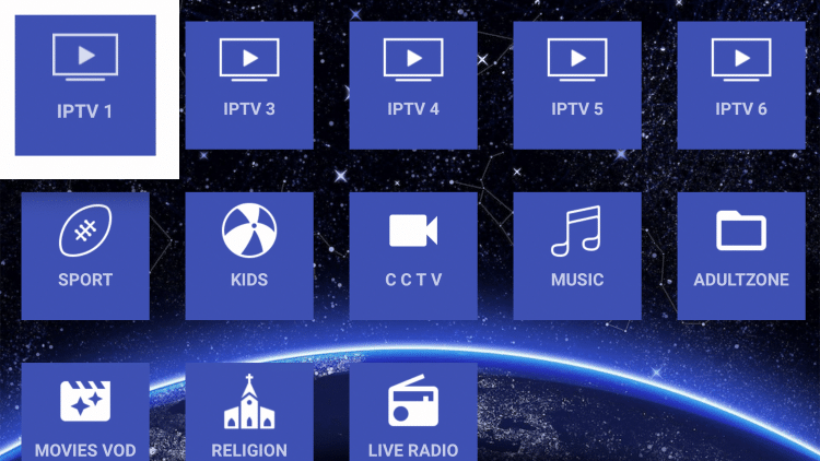 For this example, we found the IPTV 1 option to work well. But feel free to test the other sections if you prefer.