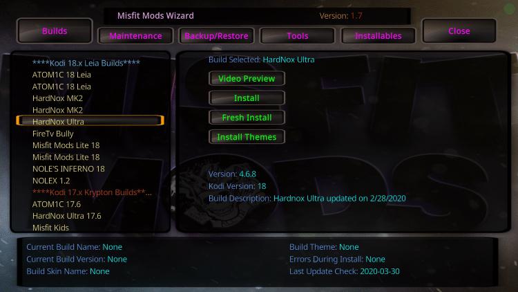 Choose the HardNox Ultrabuild