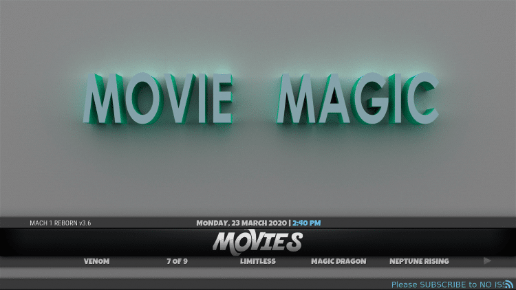That's it! The Mach Lite Kodi Build is now successfully installed.