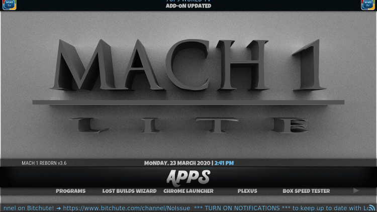 mach lite kodi build categories