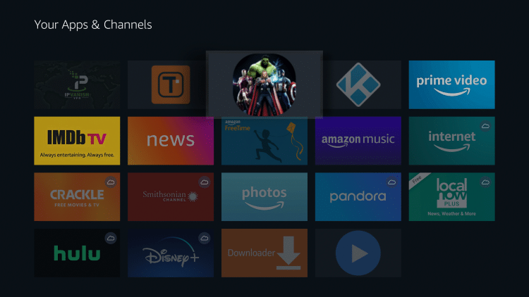 Drag Newest Movies HD to the top of your apps list and click to drop
