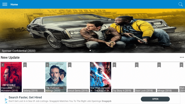 Newest Movies HD is an easy to use APK that provides a good selection of Movies and TV Shows for streaming.
