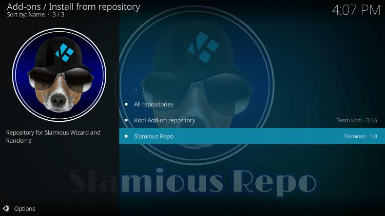 Select Slamious Repo