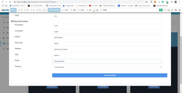 click confirm payment