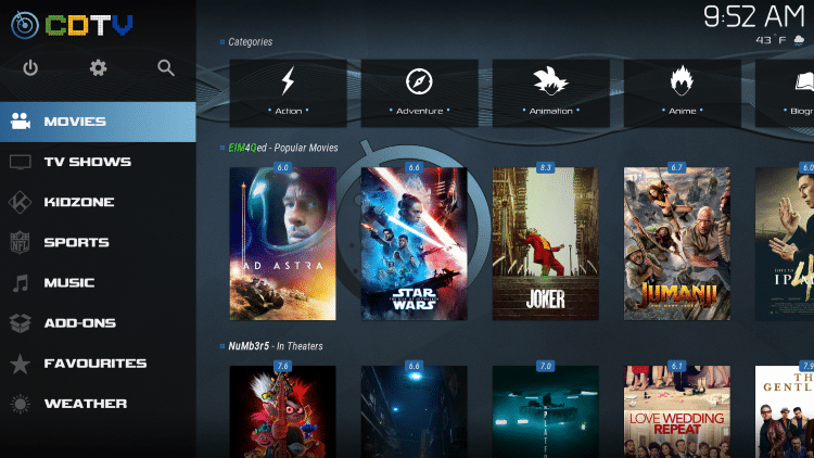 That's it! The CellarDoorTV Kodi Build is now successfully installed.