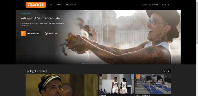 sites de films en streaming gratuits sony crackle