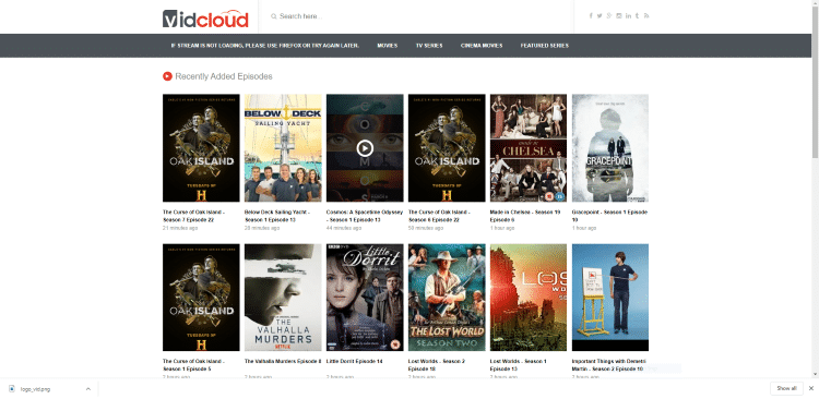 best free online movie sites vidcloud