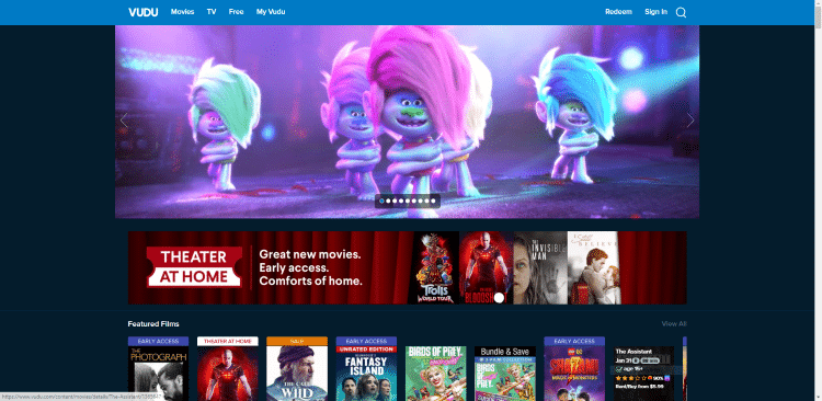 free online movie streaming sites vudu