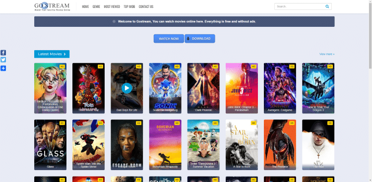 list of free online movie sites