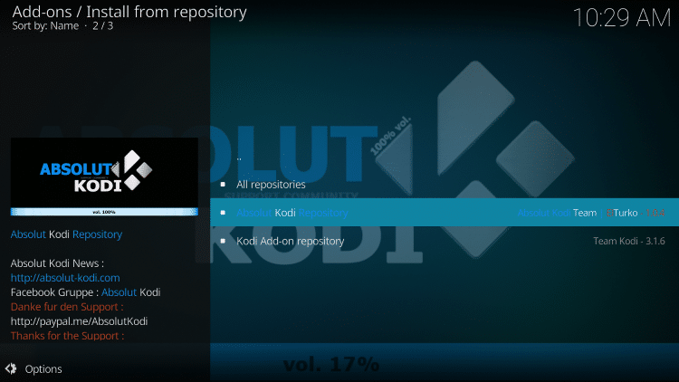 Click Absolut Kodi Repository