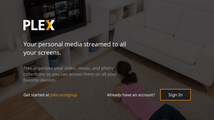 Installation of the YouTube Kodi Addon is now complete! To use your Plex account click Sign In.