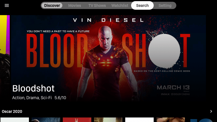 On the Home screen of Viva TV click search in the upper right. Search for the Movie or TV Show you want added to your Watchlist
