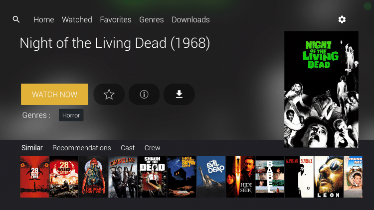 For this example we chose Night of the Living Dead, which is one of TROYPOINT's Best Public Domain Movies