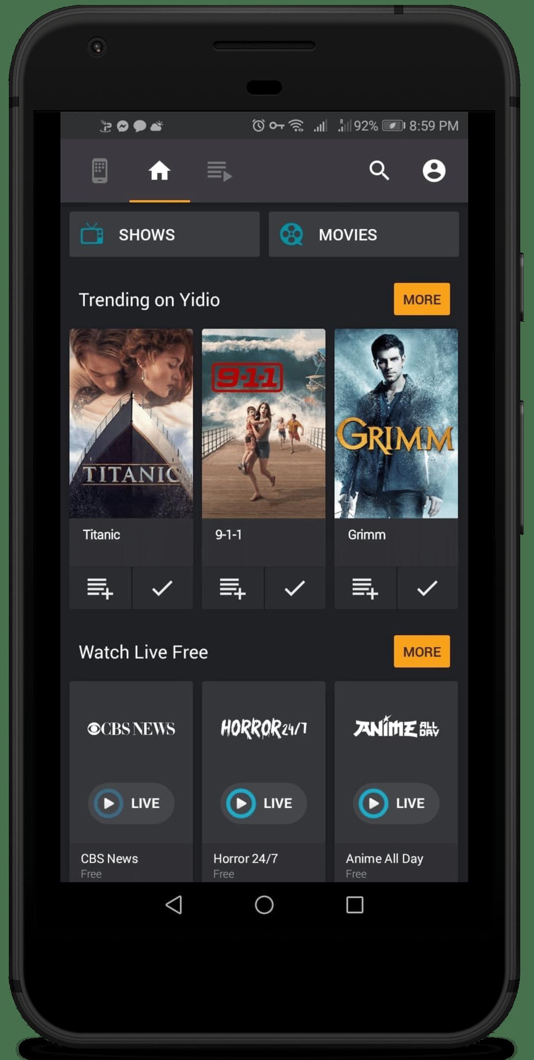 Yidio Android