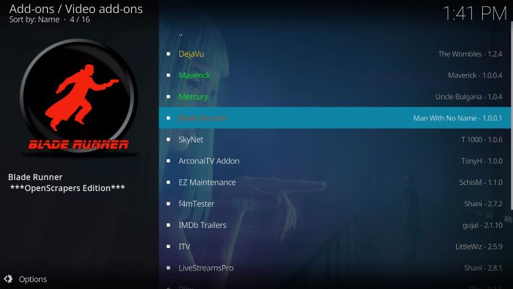 Select Blade Runner
