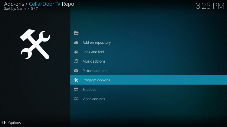 Click Program add-ons