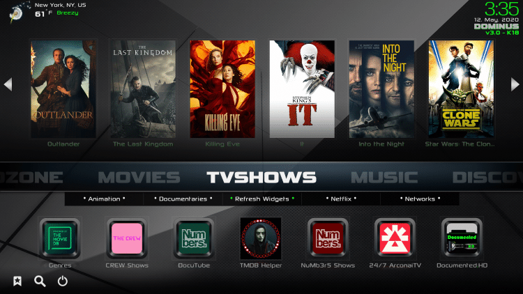 That's it! You are now able to watch Movies and TV Shows using Real-Debrid within the Dominus Kodi build.