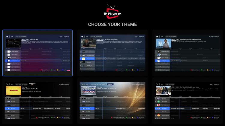 Choose whichever theme you prefer.