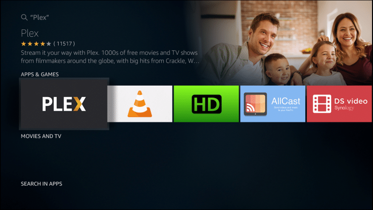 choose the plex app