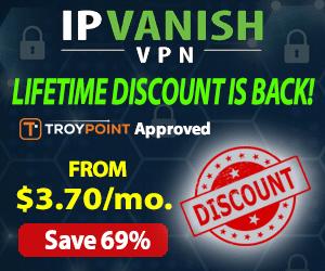 TROYPOINT IPVanish 69% Off