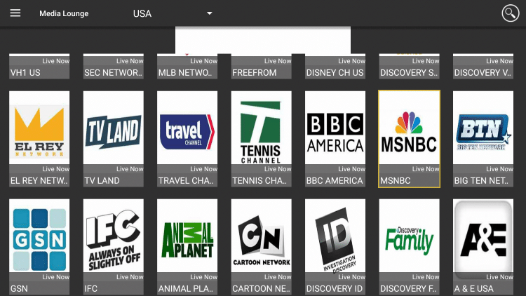 You will notice the variety of channels available across several countries.