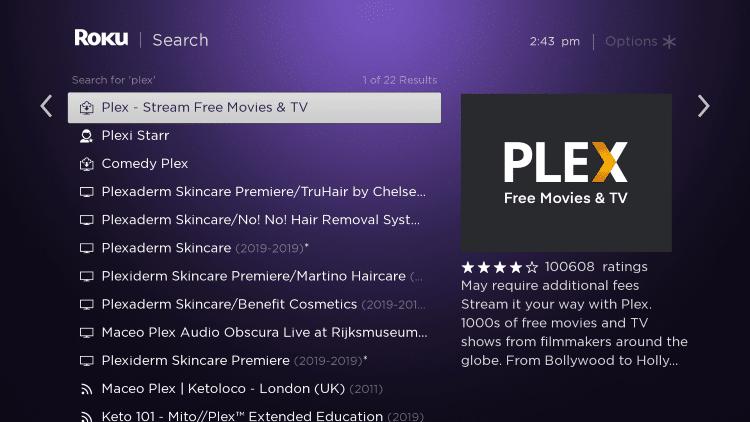 choose plex