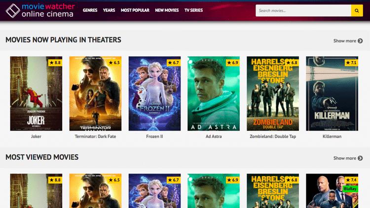 putlocker alternatives movie watcher