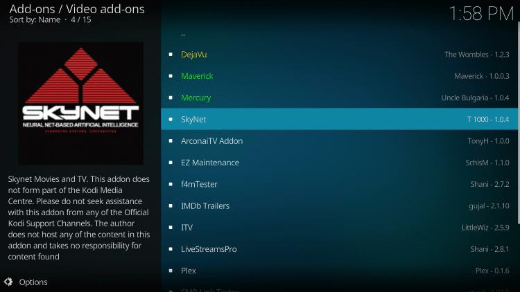 Select SkyNet