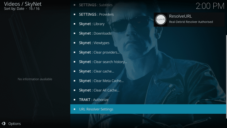 That's it! You are now able to watch Movies and TV Shows using Real-Debrid within the SkyNet Kodi Add-on.