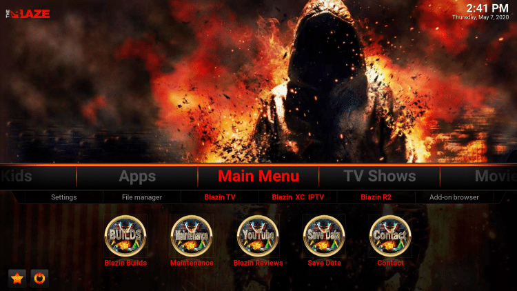 That's it! The Blaze Kodi Build is now successfully installed.