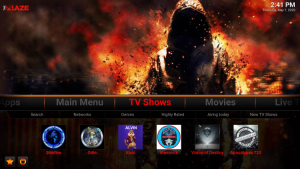 blaze kodi build tv shows