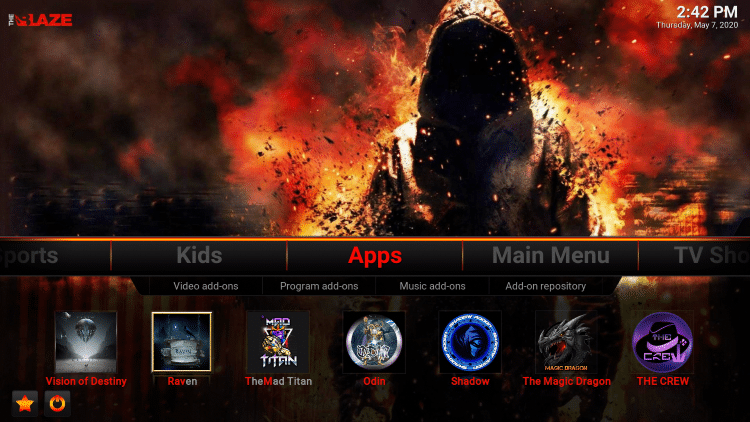 blaze kodi build apps