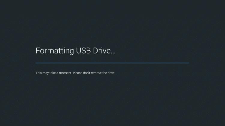 Formatting USB Drive