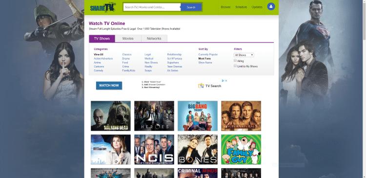 watch tv shows online free sharetv