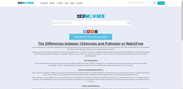 Using 123Movies on a PC or tablet may be the simplest method of using the site for Movies & TV Shows.