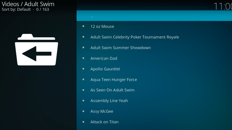 Step 10 - How to Install Adult Swim Kodi Addon Guide