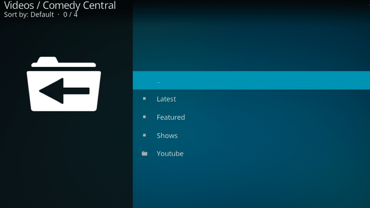 Step 10 - How to Install Comedy Central Kodi Addon Guide