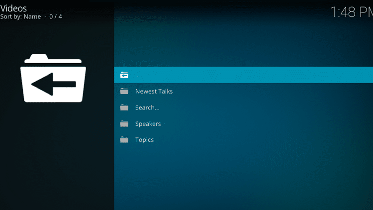 Step 10 - How to Install TED Talks Kodi Addon Guide
