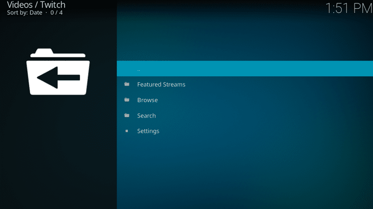 Step 10 - How to Install Twitch Kodi Addon Guide
