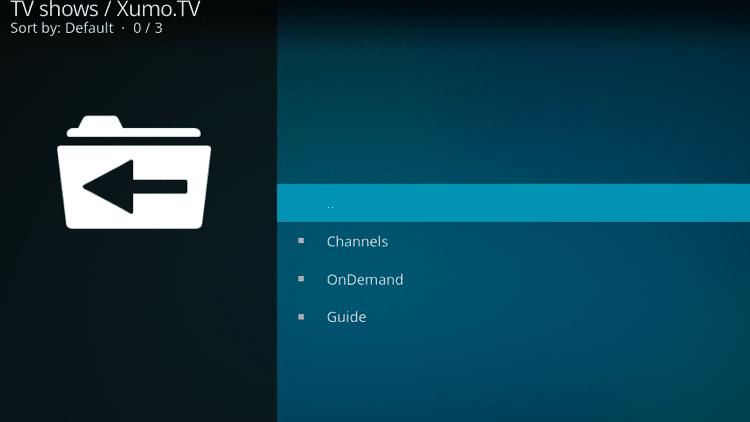 Step 10 - How to Install Xumo.TV Kodi Addon Guide